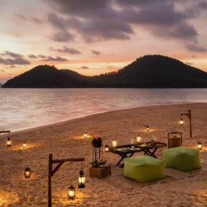 Six Senses Yao Noi in Ko Yao:  Island sunset BBQ
