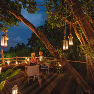 Bawah Reserve: Lookout dining at dusk