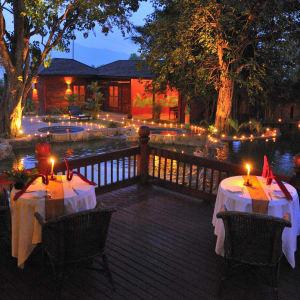 Pristine Lotus Resort in Inle Lake: Lotus Villa Bar Terrace