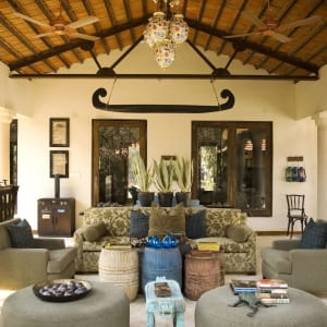 Baghvan Lodge in Pench: Lounge