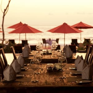 Sudamala Suites & Villas Lombok: Olah - Olah Restaurant - Sunset Time
