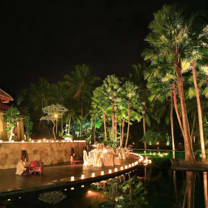 The Ubud Village Resort & Spa:  outdoor restaurant