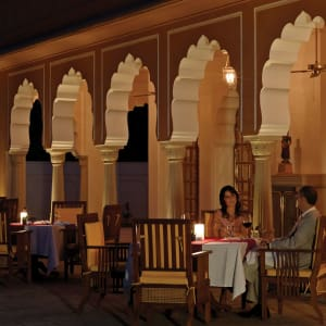 The Oberoi Rajvilas in Jaipur: Rajmahal Outdoor Dinning