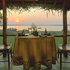 Evolve Back Kuruba Safari Lodge à Parc national de Nagarhole: Restaurant
