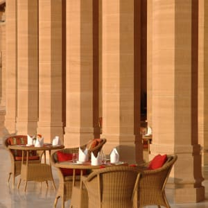 Umaid Bhawan Palace à Jodhpur: Restaurant Terrace