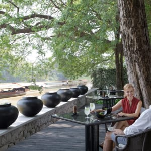 Anantara Chiang Mai Resort: riverside lunch