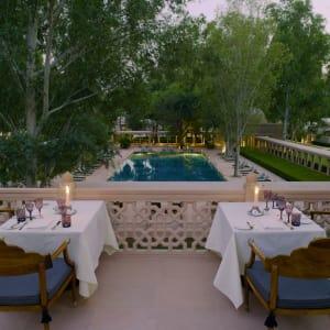 Aman Geniesser-Reise ab Jaipur: f&b: Roof Terrace Dining