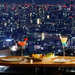 Keio Plaza à Tokyo: Sky lounge Aurora Lounge