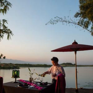 Inle Princess Resort in Inle Lake: Special Private Dinner on Sunset Deck
