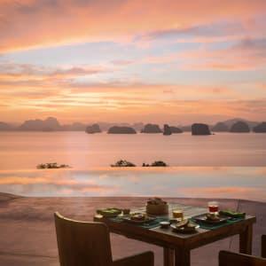 Six Senses Yao Noi in Ko Yao:  Sunrise Breakfast at Hilltop Reserve