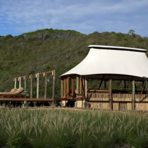 Jeeva Beloam Beach Camp in Lombok: Tenda Restaurant