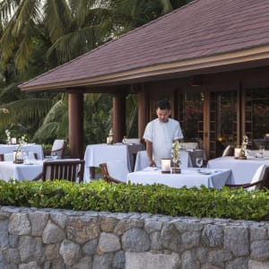 Amanpulo in Palawan: The Clubhouse Restaurant