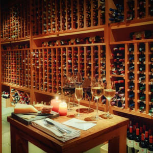 Bungaraya Island Resort à Kota Kinabalu:  The Longhouse Wine Cellar