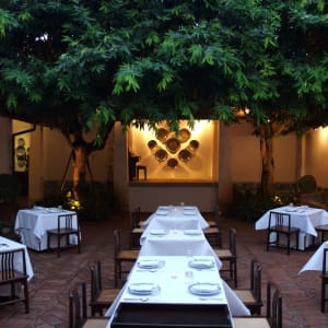 Rachamankha in Chiang Mai: The Restaurant Courtyard
