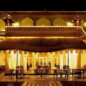 Jai Mahal Palace in Jaipur:  Jaimahal Eve Shot