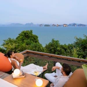 Six Senses Yao Noi in Ko Yao:  Lazy Trampoline Net at The Hilltop