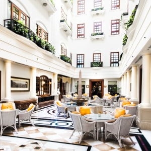 The Imperial in Delhi: The Atrium- Tea Lounge with natural light