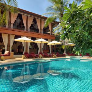 Zazen Boutique Resort & Spa in Ko Samui: Zazen's pool & restaurant