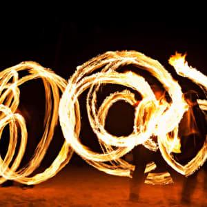 Goa by night: Fire Artist Goa