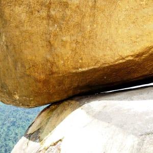 Der magische goldene Felsen ab Yangon: Golden Rock touching point