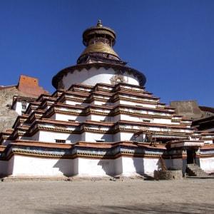 Avec le train du Tibet sur le toit du monde de Pékin: Gyantse Kumbum Monastery