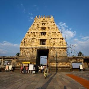 Le sud diversifié de l'Inde de Kochi: Halebid: Temple Entrance
