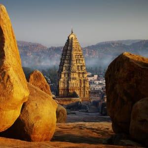 Karnatakas kulturelles Vermächtnis ab Goa: Hampi wonderful morning scenery