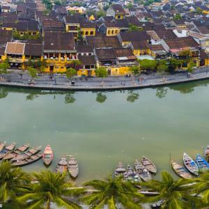 Découverte active du centre du Vietnam de Hué: Hoi An Panorama Aerial view of ancient town