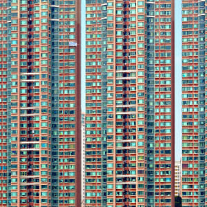 L'éclat de la Chine en train de Pékin: Hong Kong Apartment Building