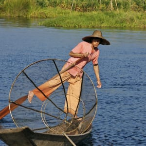 Le pays doré de Yangon: Inle Lake fisherman