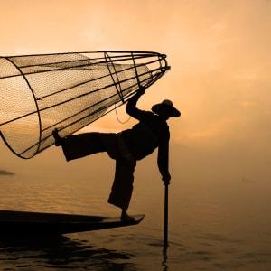 Au pays des temples et des pagodes de Yangon: Inle Lake fisherman