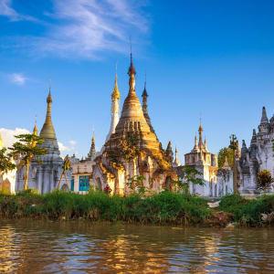 Myanmar - Land der Tempel und Pagoden ab Mandalay: Inle Lake Stupas