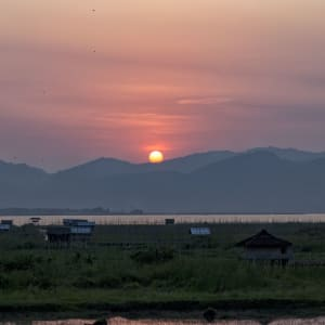 Tour à vélo à travers le pays doré de Yangon: Inle Lake Sunset
