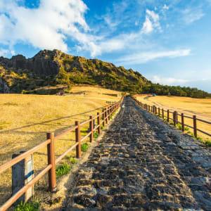 Insel Jeju, Mietwagen-Rundreise: Jeju Seongsan Ilchulbong moutain