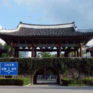 Grand circuit en Corée du Nord de Pyongyang: Kaesong: Nam Southern Gate