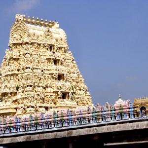 Höhepunkte Südindiens ab Chennai: Kanchipuram: Gopuram of Ekambareswarar