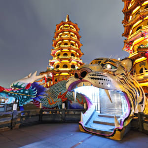 Taiwan – Grosse Mietwagenrundreise ab Taipei: Kaohsiung: Dragon Tiger Tower