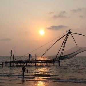 Stadttour Kochi: Kochi chinese fishing nets 008 reca