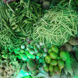 Tour à vélo à travers le Kerala de Kovalam: Kochi: local market