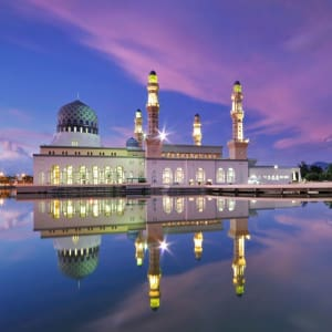 Höhepunkte Borneos ab Kuching: Kota Kinabalu City Floating Mosque