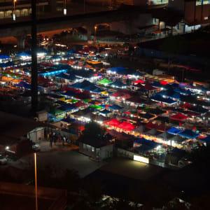 Chinatown by Night in Kuala Lumpur: Kuala Lumpur Night market with colourful light