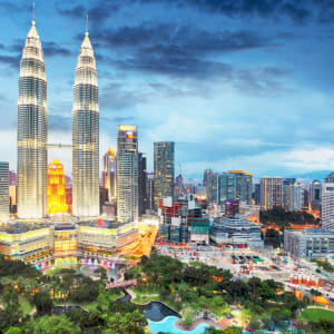 Malaysia - Grosse Mietwagenrundreise - SIN-PEN ab Kuala Lumpur: Kuala Lumpur skyline
