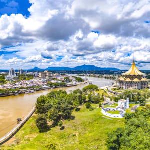 Les hauts lieux de Bornéo de Kuching: Kuching Aerial View