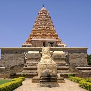 Höhepunkte Südindiens ab Chennai: Kumbakonam: Temple with Nandi