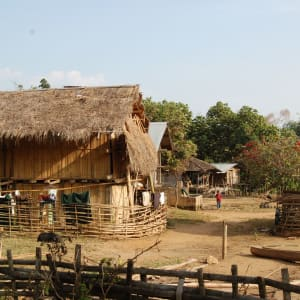 Tribus montagnardes de Kyaing Tong: Kyaing Tong: hilltribe village