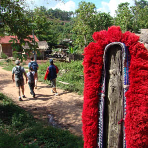 Bergstämme und Natur in Nord-Laos ab Luang Prabang: Laos hilltribe village