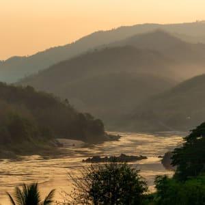 Traversée du sud du Laos à Angkor de Pakse: Laos Mekong River near Pakbeng