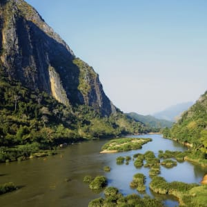 Bergstämme und Natur in Nord-Laos ab Luang Prabang: Laos Nam Ou River Nong Khiaw
