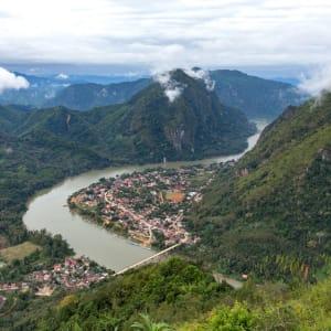 Bergstämme und Natur in Nord-Laos ab Luang Prabang: Laos Nong Khiaw Village