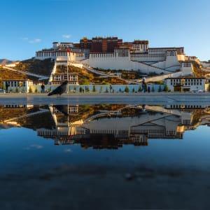 Avec le train du Tibet sur le toit du monde de Pékin: Lhasa Potala Palace